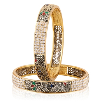 Multicolor Cubic Zirconia Bangles And Bracelets