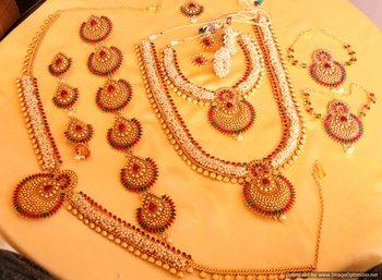 Multicolor Ruby   Polki bridal-sets
