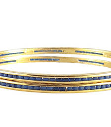 Buy Bangles For Festive Wear with Blue Stones bangles-and-bracelet online