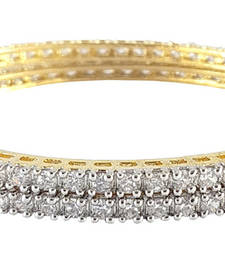 Simple American Diamond Bangle For Daily Wear