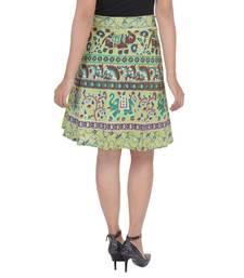 Green printed Cotton Rajasthani skirts