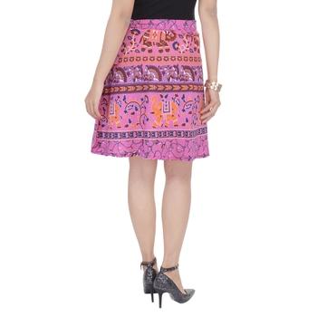 Pink printed Cotton Rajasthani skirts