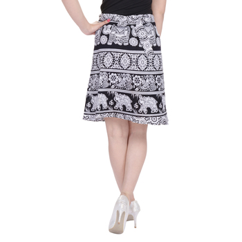 Black printed Cotton Rajasthani skirts