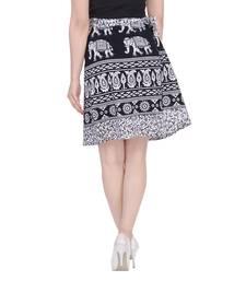 Buy Black printed Cotton Rajasthani skirts short-skirt online