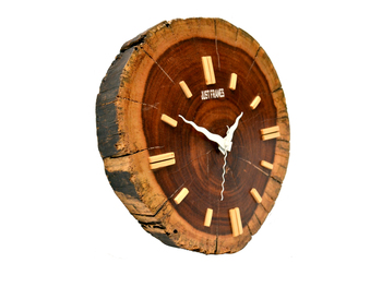 Hand Crafted Antique Round Shape Wooden Wall Clock