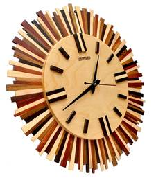 Buy Hand Crafted Antique Circular Shape Wooden Wall Clock wall-clock online