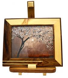 Buy Natural Wooden Color Antique Wooden Photo Frames For Table photo-frame online