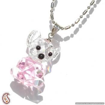 Teddy Bear Crystal Pendant