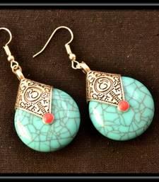 Royal turqouise temple dangling earrings