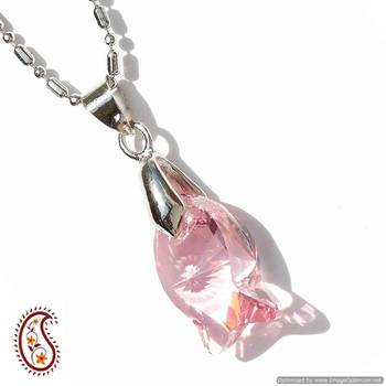 Pink Puppy Crystal Pendant