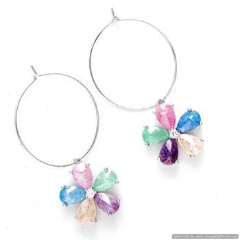 Bohemian Multicolor Hoop Earrings