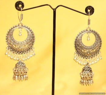 Oxidised Silver Filigree Earrings