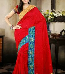 Buy Amazing Maroon Color Bhagalpuri Silk Saree with Blouse bhagalpuri-silk-saree online