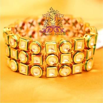 Gorgeous Kundan & Meenakari Bracelet