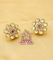 Buy Kundan & Meenakari Ruby Studs black-friday-deal-sale online