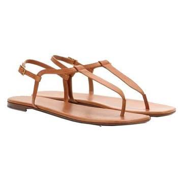 Beige 'T' style flat Sandal