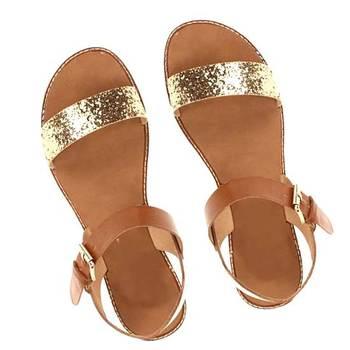 Glittery Golden n Beige Sandal