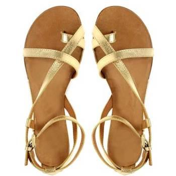 Glittery Gold Strappy Sandal