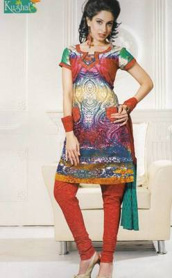 Printed With Chiffon Dupatta Unstitched Suit D.No 102