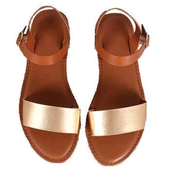 Mat Gold n Brown Sandal
