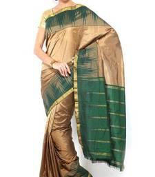 Buy Sudarshan silks Pure Silk  Kanjeevaram Hand women Saree-Grey-SLV23-VS-Silk kanchipuram-silk-saree online