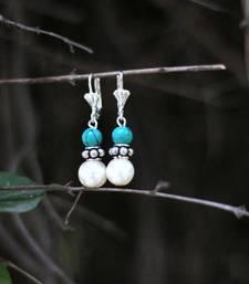 Buy Pearl and Turquoise Earrings danglers-drop online