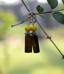 Buy Caught on Yellow Earrings danglers-drop online