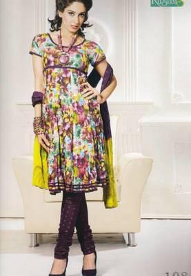 Dress Material Cotton Printed With Chiffon Dupatta Unstitched Suit D.No 108