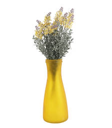 Shinning yellow and green decorative artificial flowers