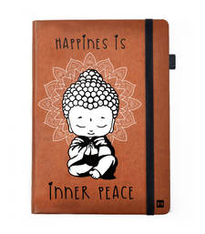 Buy Premium Notebook Tan Brown Leather Hardbound Cover Classic Notebook  Inner Peace stationery online