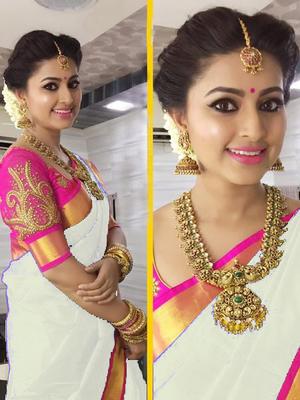 White Plain   chanderi_silk saree with blouse