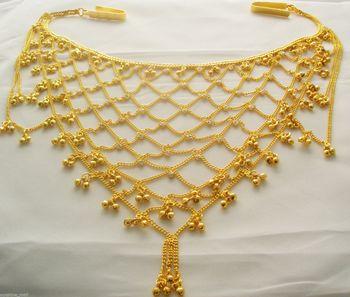 Exclusive Diamond Studed Chained Waist Chain / Kandora