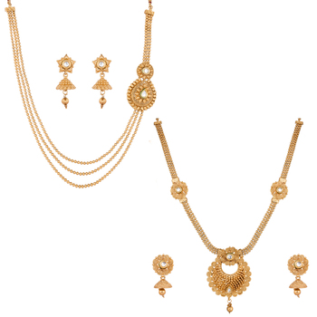 Gold diamond jewellery-combo