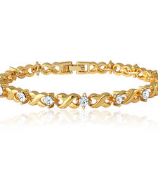 Gold crystal bracelets