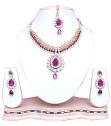 Purple diamond necklace-sets