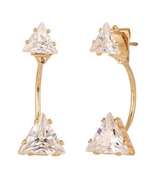 Buy Gold semi precious gold plated studs stud online