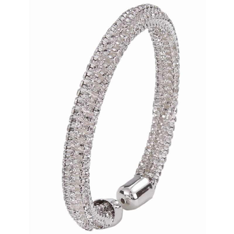 Buy Silver Crystal Kada Bracelet For Girls And Women Online