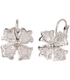 Buy Silver semi precious silver plated ear-cuffs ear-cuff online