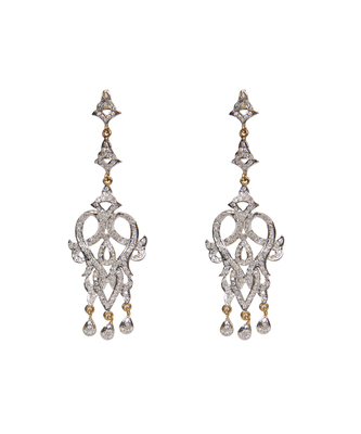 Silver american_diamonds crystal danglers drops