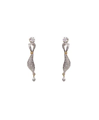 Silver american_diamonds crystal danglers drops