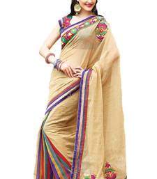 Buy Traditional Gold Colour Designer Saree with Heavy Border - SR1775 silk-saree online