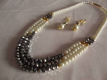 White Grey Necklace