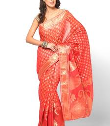 Buy Pure cotton supernet banarasi fancy zariwork saree supernet-saree online