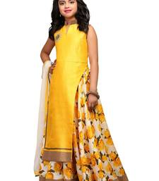 8af28dce21 White button new arrival latest girl's yellow banglori silk lehenga choli