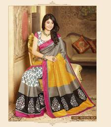 Buy Multi Color Styloce Designer Bhagalpuri Saree bhagalpuri-silk-saree online
