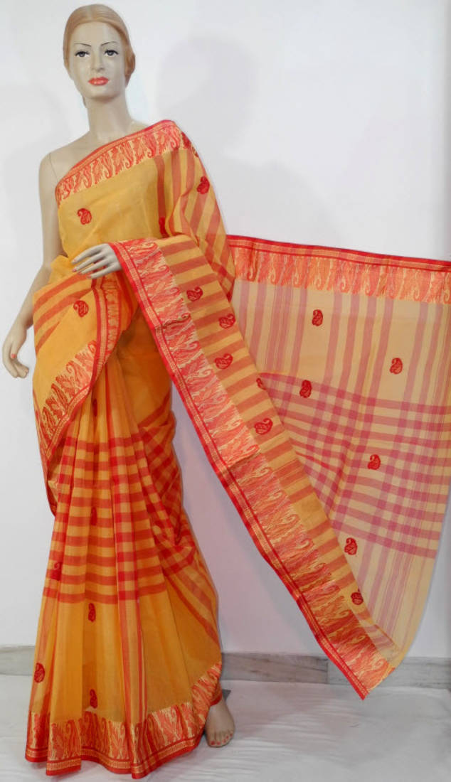 bbd7339e36d ... Bengal Handloom Tant Cotton Casual Wear Saree (W/o Blouse)