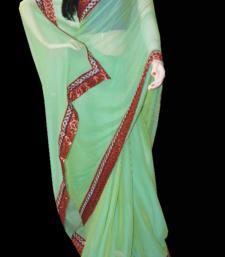 Buy greeny delight chiffon-saree online