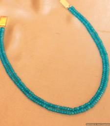 Turquoise Colour Two Line Semi Precious Necklace Set