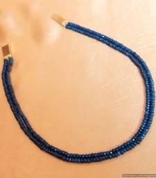 Blue Sapphire Two Line Necklace Set