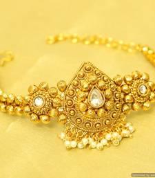 Buy Gold look zircon studded bajuband bajuband online